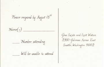 Wedding Announcements - Save the date cards, Reply Cards, Reply ...