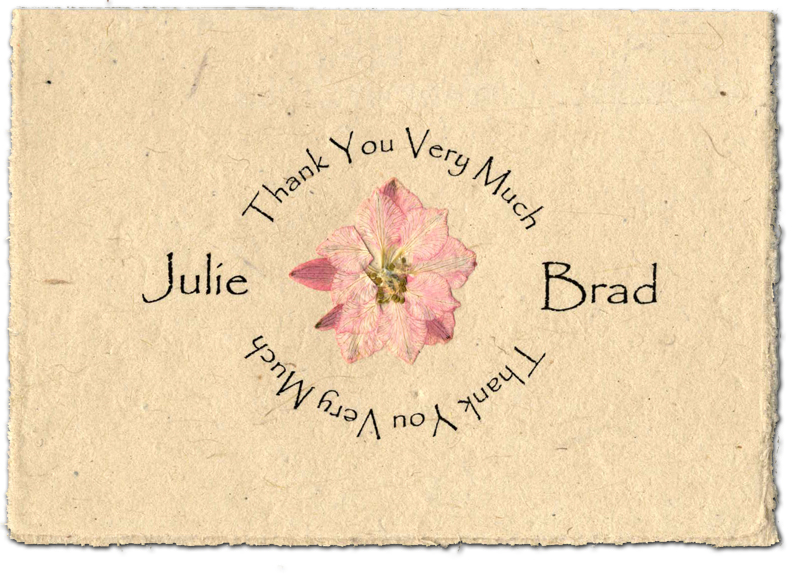 Lotka cards with pressed flower pressed flower seeded thank you card mightylinksfo